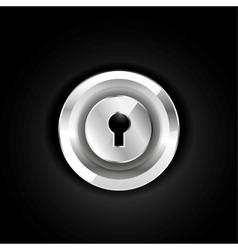 Metallic lock icon vector image