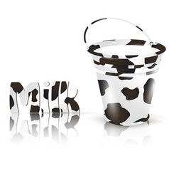 milk bucket vector image vector image