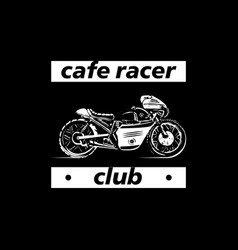moto bike icon cafe racer vector image