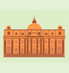 Royal palace tourism travel design famous building vector