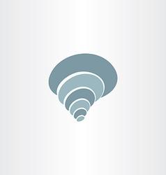 Sea shell clip art logo icon vector
