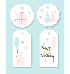 set of birthday party tags vector image