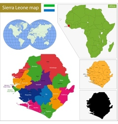 Sierra Leone map vector image