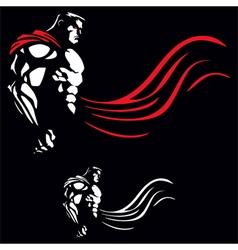 Superhero on Black vector image vector image