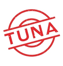 Tuna rubber stamp vector