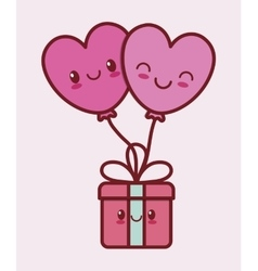 valentines day related kawaii style icon image vector image vector image