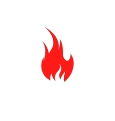 Isolated red color flame on the white background vector image