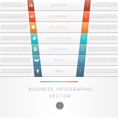 Template infographic strips 7 position vector