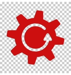 Cogwheel rotation direction icon vector