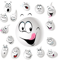 Grinning and smiling drop of milk - vector