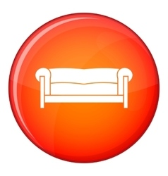 Sofa icon flat style vector