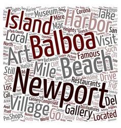 Newport beach sights you should not miss text vector