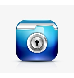 Locked folder icon folder protection concept vector image