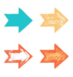 set color arrow sign texture paint vector image