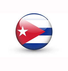 Round icon with national flag of cuba vector