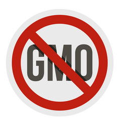 stop gmo red prohibition sign icon isolated vector image