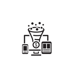 Conversion rate optimisation icon vector