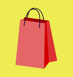 icon in flat design fashion paper bag vector image