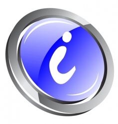 3d information button vector image vector image