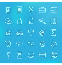 Banking finance business money line icons set vector