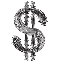 Dollar sign vector