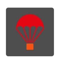 Parachute rounded square button vector