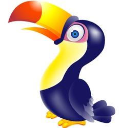 Toucan bird cartoon vector image