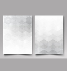 a template of the brochure design grey background vector image vector image