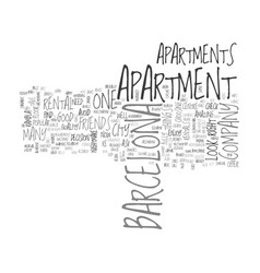 Barcelona apartment rentals text word cloud vector