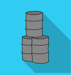 Barricade from barrels icon in outline style vector