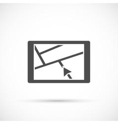 Car navigation device icon vector image