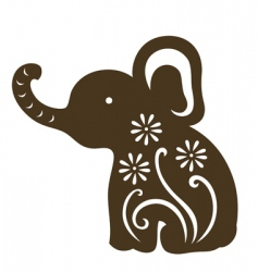 Cartoon baby elephant vector