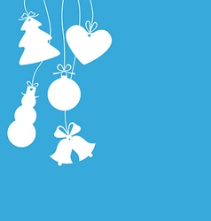 Christmas baubles vector