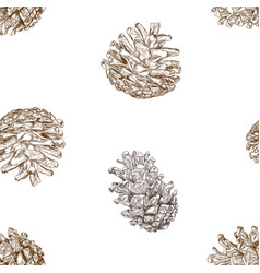 Christmas concept pine nut seamless pattern vector