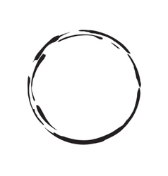 circle shape black grunge background vector image