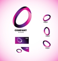 Coporate business media circle logo vector image vector image