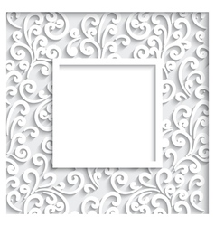 Decorative paper frame vector image