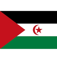 Flag of sahrawi arab democratic republic vector