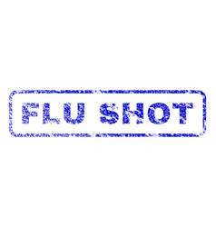 flu shot rubber stamp vector image vector image