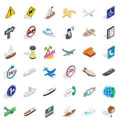 Freeway icons set isometric style vector
