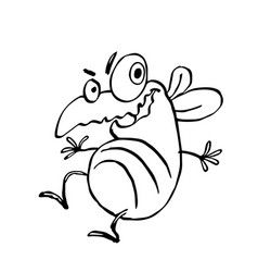 funny dancing cute fly vector image