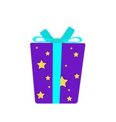Gift box present christmas ribbon surprise design vector