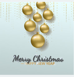 greeting card invitation with happy new year 2018 vector image vector image