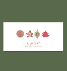 greeting card vector image