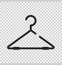 Hanger icon wardrobe hander flat vector
