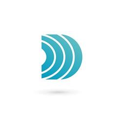 Letter d wireless logo icon design template vector