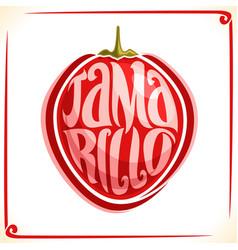 Logo for tamarillo fruit vector