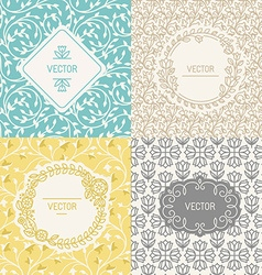 Natural cosmetics packaging vector image vector image