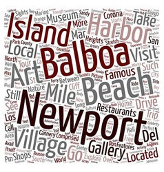 Newport beach sights you should not miss text vector