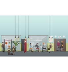 Office people concept in flat vector